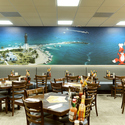 Our dining room - <p>Enjoy our mural of the Hillsboro Inlet &amp; it's famous lighthouse</p>